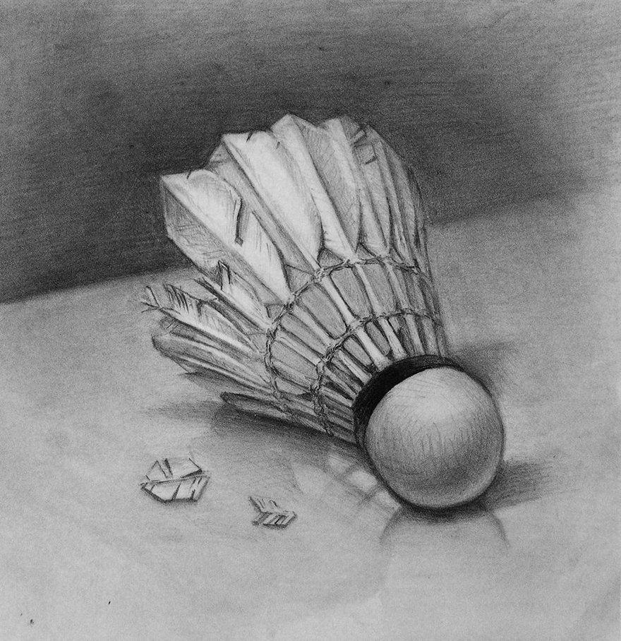 Shuttlecock By Ken Chen On Deviantart Life Drawing Still Life Drawing Drawings