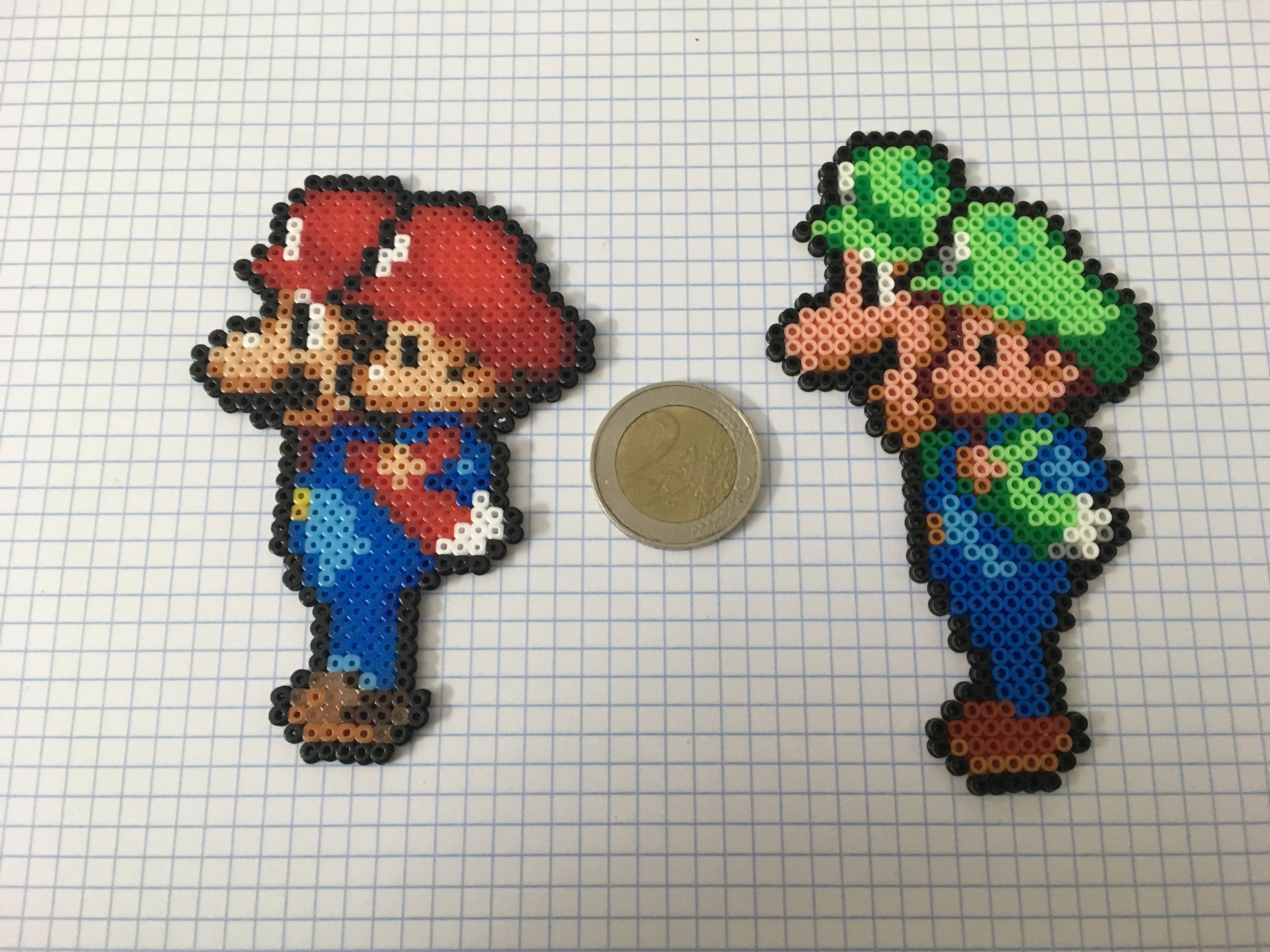 Mario Luigi Perler Hama Beads Perler Bead Mario Diy