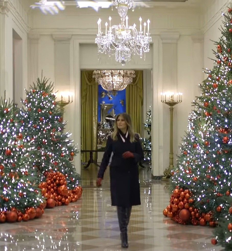Flotus Melania Trump Shows Off The White House Christmas Decorations On November 25 2 White House Christmas Decorations White House Christmas Trump Christmas