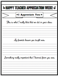 teacher appreciation letters from students