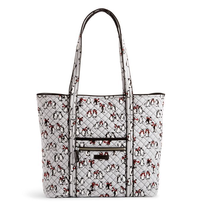 Image of Iconic Vera Tote in Playful Penguins Gray  bfbd453a82076