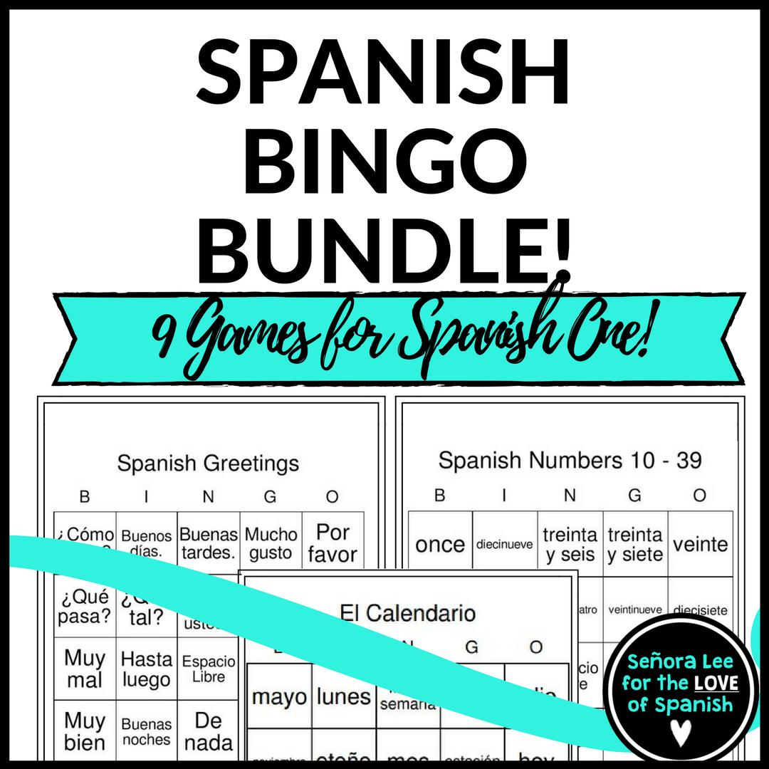 Spanish Bundle Spanish Bingo Games Bingo Games Spanish And Students