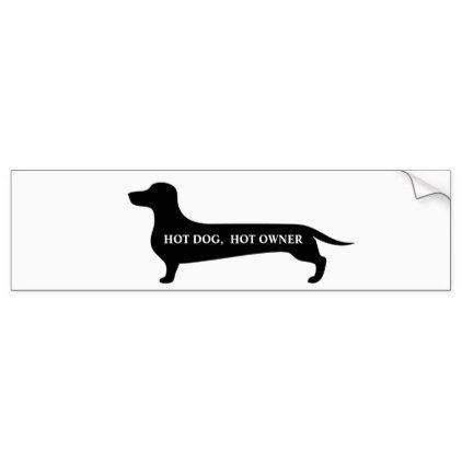 Funny hot dog hot owner dachshund bumpersticker bumper sticker love gifts cyo personalize diy
