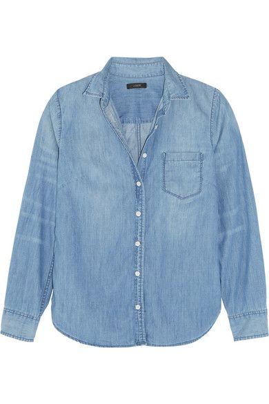J.CREW Cotton-Chambray Shirt. #j.crew #cloth #tops