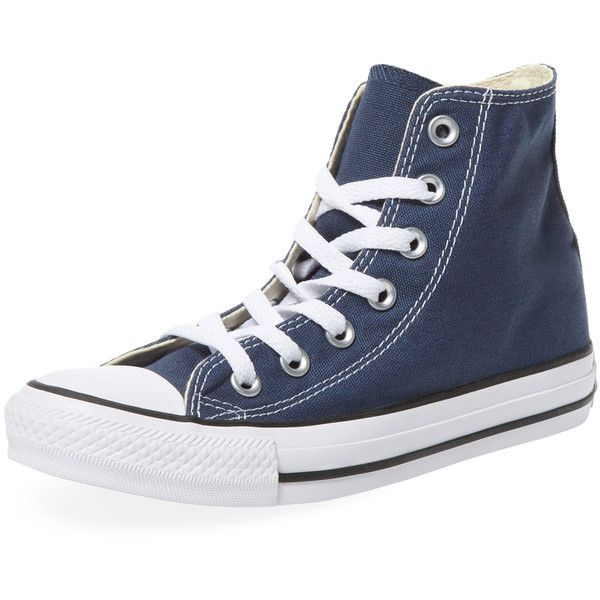 f7496da962abc Converse Women s Chuck Taylor All Star Hi-Top - Dark Blue Navy ( 39) ❤  liked on Polyvore featuring shoes