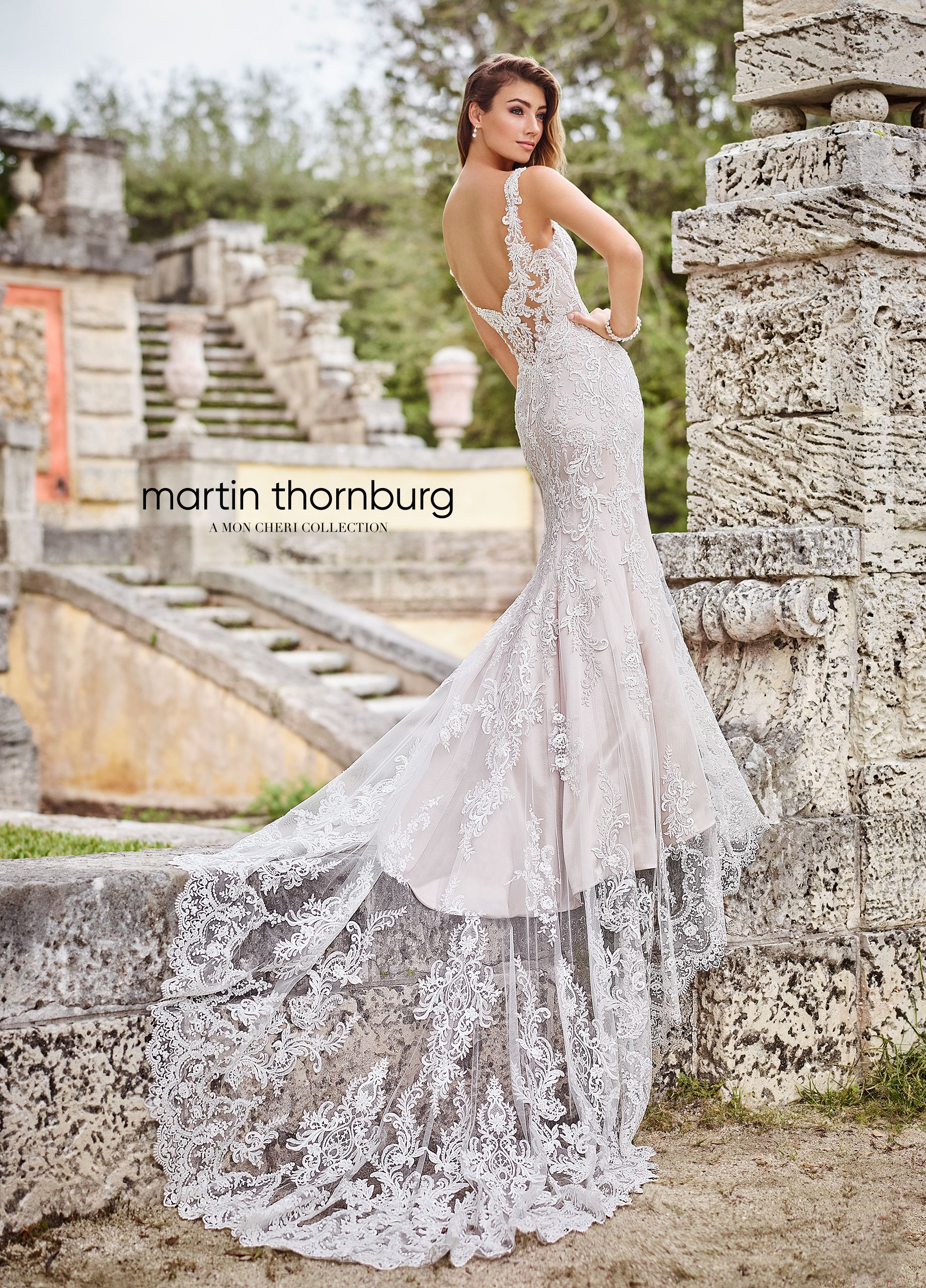 78d58003079 ... is a sleeveless tulle over satin and stretch lining fit and flare dress  adorned with Schiffli lace appliques