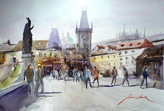 Luis Sala. Acuarelas-Watercolors