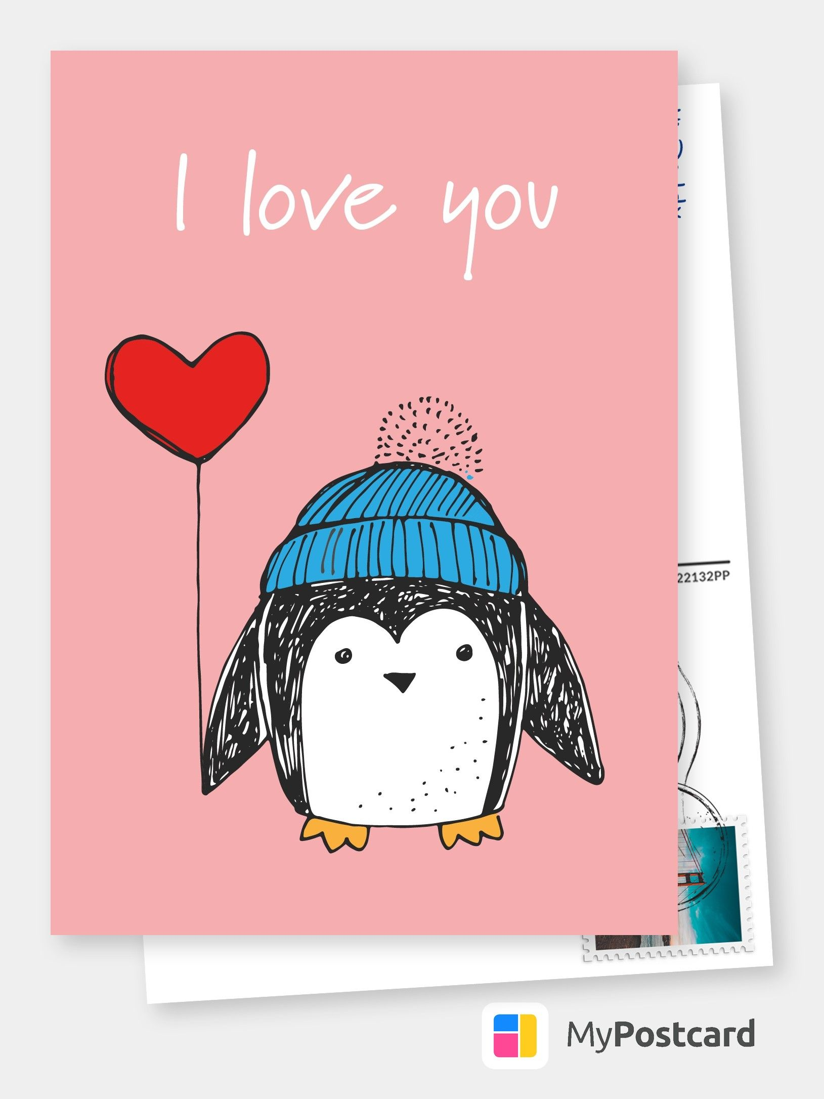 Personalized Free I Love You Cards Templates Printable And Mailed For You International Free Shipping Worldwide Postcard Service Or Postcards App Postcard App Postcard Cards For Boyfriend