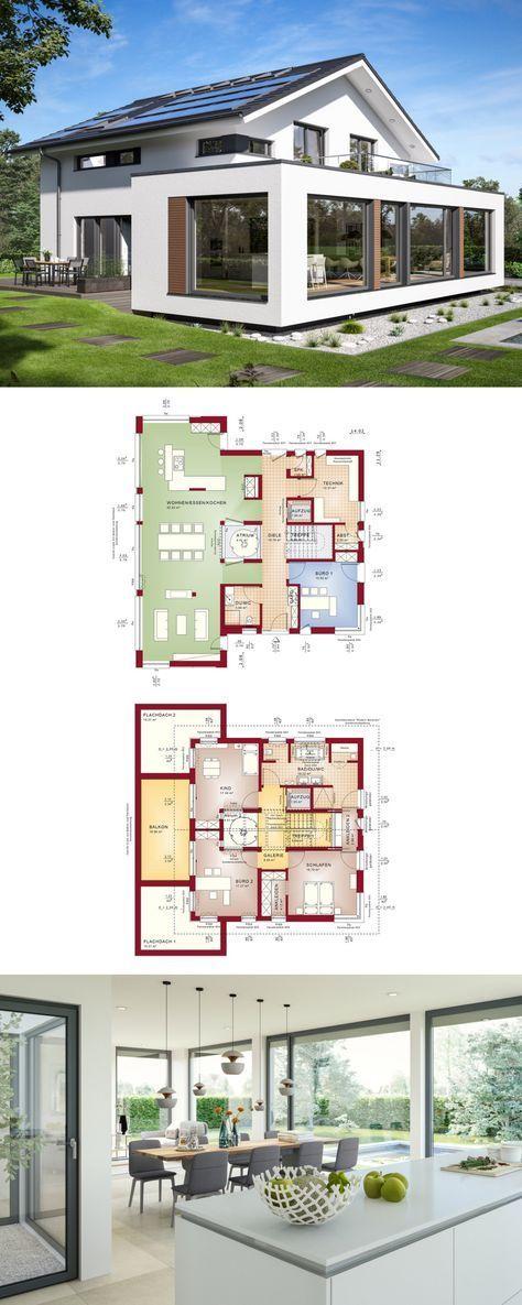Designhaus Mit Satteldach Und Atrium