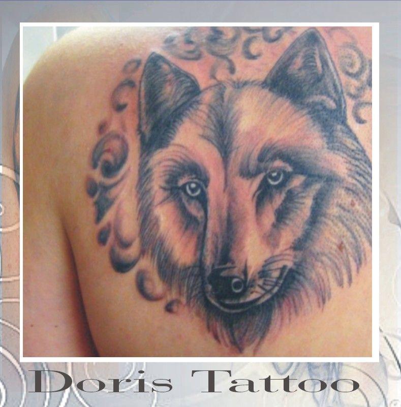 animal tattoos, wolf tattoo