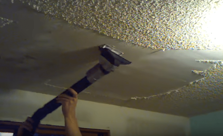 Transform Your Popcorn Ceiling On A Budget Expert Diyer Shares 4 Easy Ways To Get Rid Of It Popcorn Ceiling Ceiling Diy Ceiling