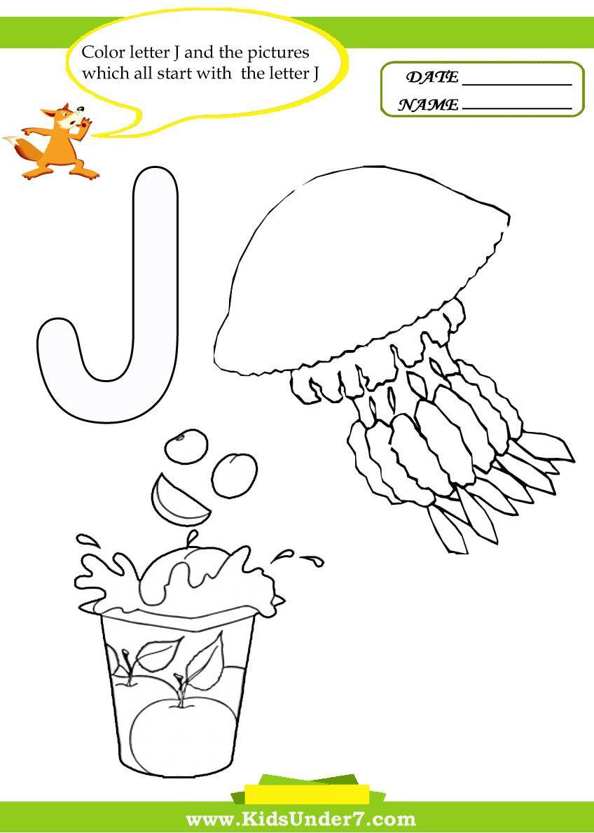 Letter J Worksheets For Kindergarten Alphabet Coloring Pages Letter Worksheets For Preschool Kindergarten Worksheets [ 1190 x 848 Pixel ]