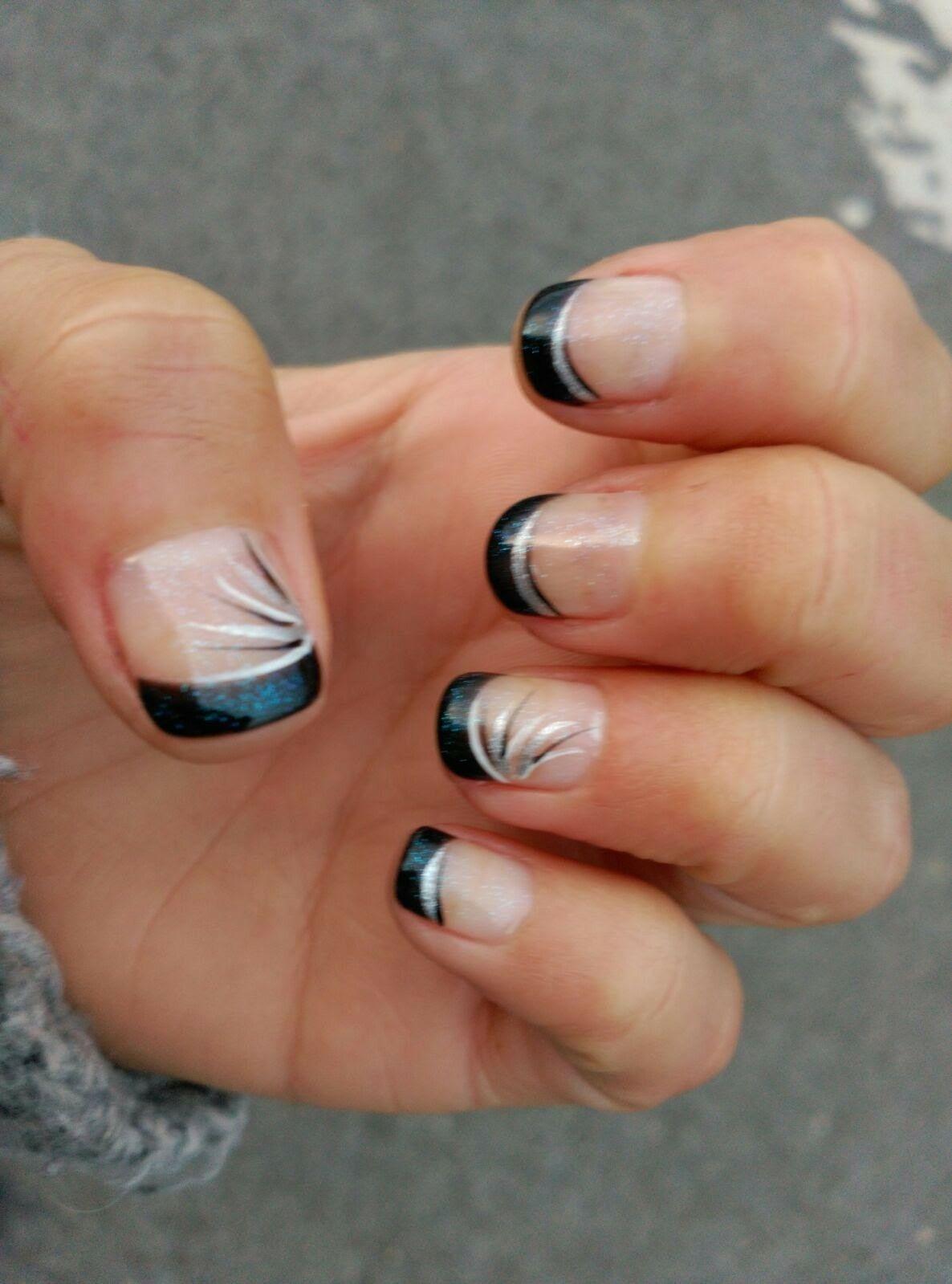 Elegantes uñas en francesa negra. Lima\'s Barakaldo | Uñas perfectas ...