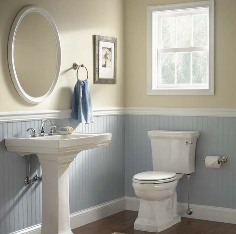 The best beadboard bathroom ideas i like the color - Bathroom remodel ideas with wainscoting ...