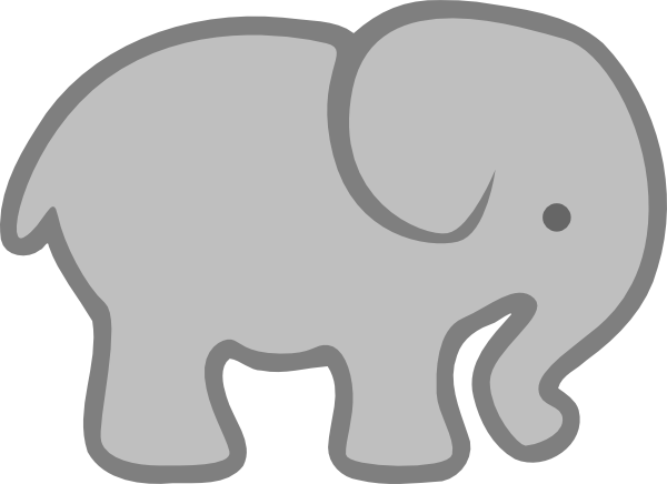 gray elephant outline clip art at vector clip art grams place rh pinterest com elephant clipart cute elephant clipart grey and white