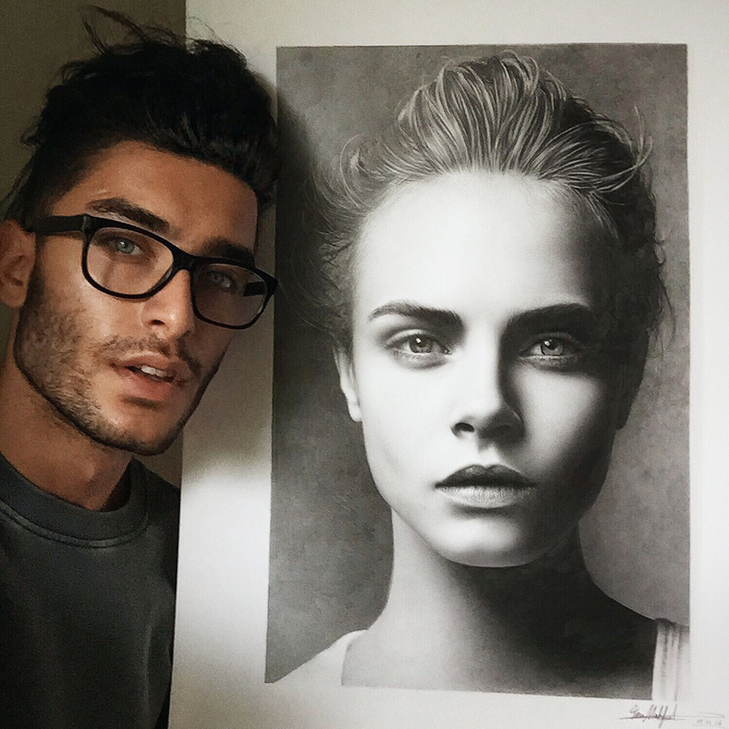 Interview of Toni Mahfud. Illustrator, photographer, model, fashion blogger: A modern artist. #CaraDelevingne