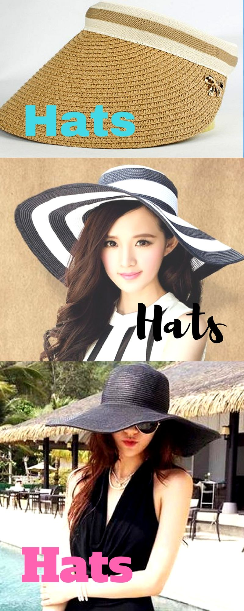 aa24d2326555e Hats to protect you from the sun. Great beach fashion!