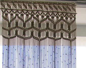 Macrame Curtain Custom Wall Hanging Dorm Decor Bohemian Boho Chic Beach House Large Room Divider Wedding Backdrop