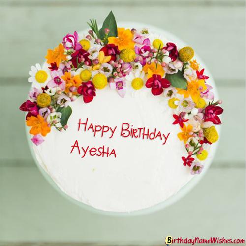 Ayesha Birthday Cake