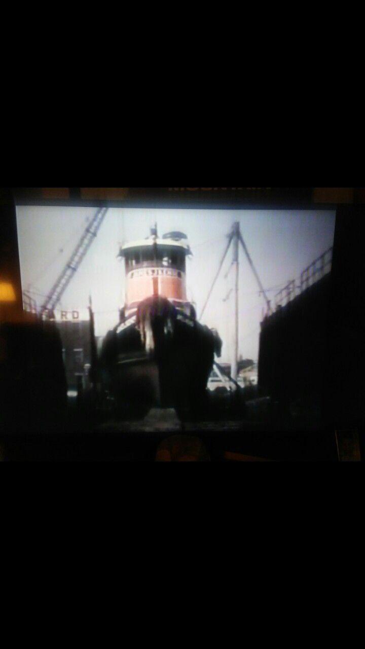 James J. Kehoe dry dock NYC 1969 Tug boats, Mom and dad