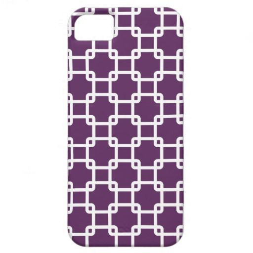 Purple Square Link Pattern iPhone 5 Case.  http://www.zazzle.com/purple_square_link_pattern_iphone_5_case-179155772640527692?rf=238692627507514027 #purple iphonecases #squarelinks #customizable