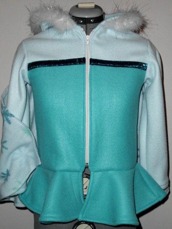 Frozen Elsa Disney Look Hooded Fleece Jacket by loreiz on Etsy, $99.99
