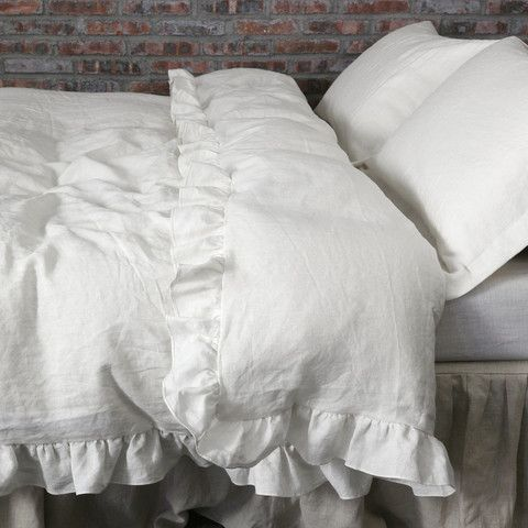 hadley cover products barn pottery ruffle duvet full sham blue ruched queen white