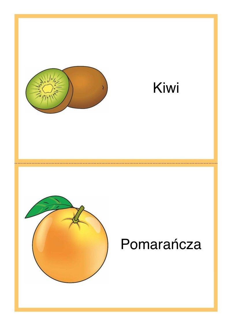Tablice Edukacyjne Owoce Do Druku 3 Crafts For Kids Pie Chart Kiwi