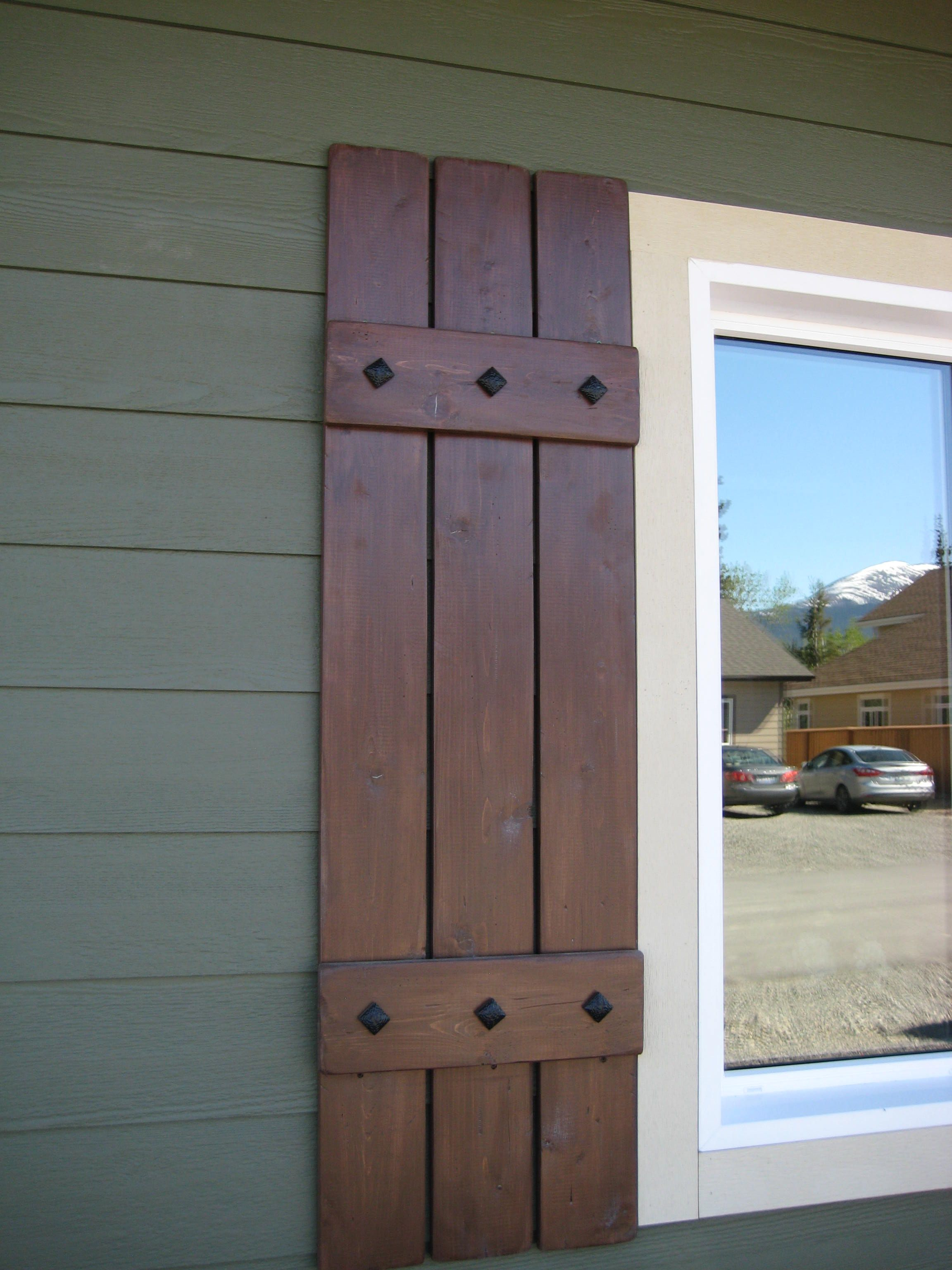 Cedar shutters jesse 39 s parents in 2019 house shutters - Exterior wooden shutters for windows ...