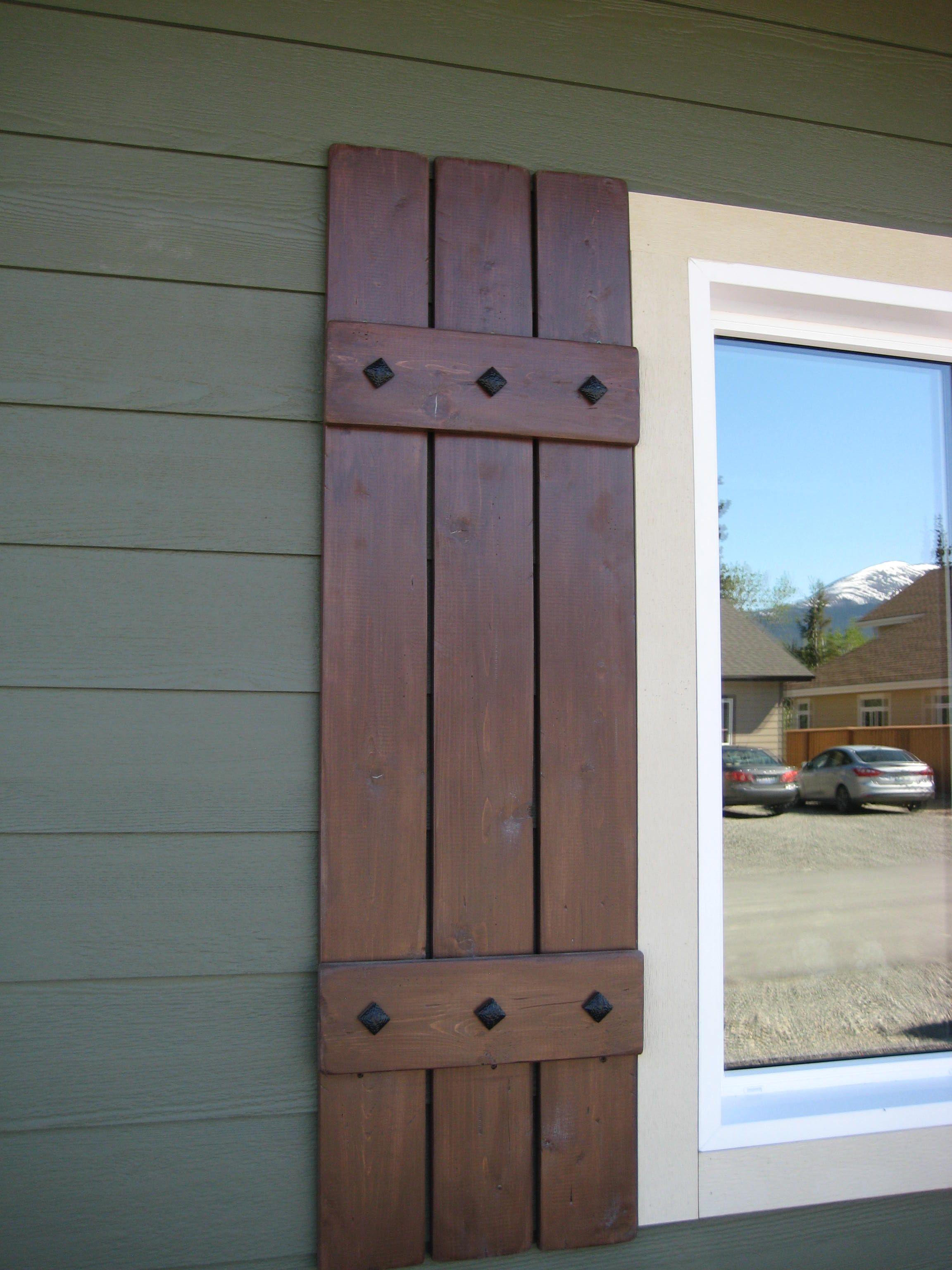 Cedar shutters wood shutters exterior house shutters