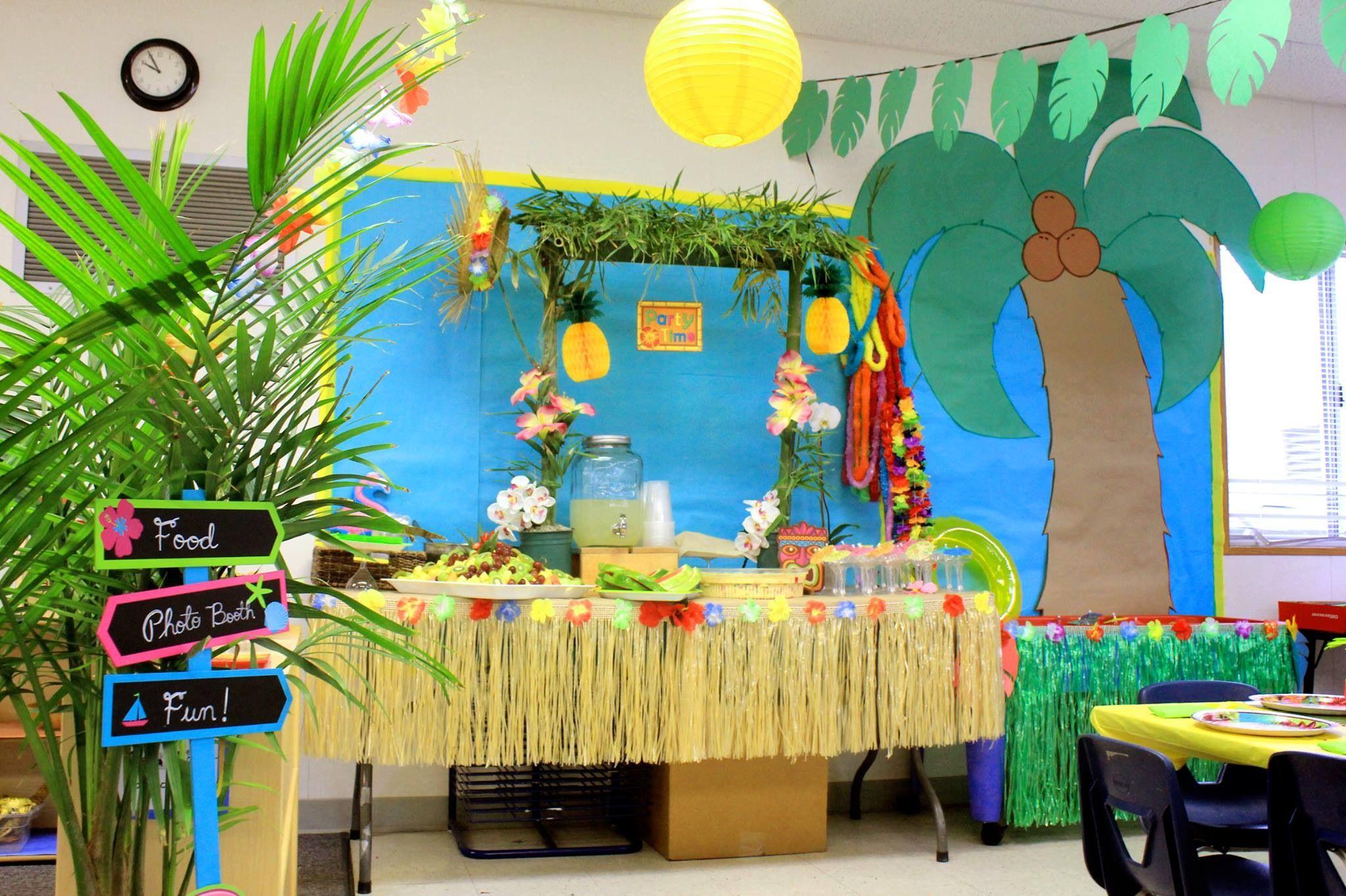 Our Preschool Luau Party Hawaiian Decoration Ideas