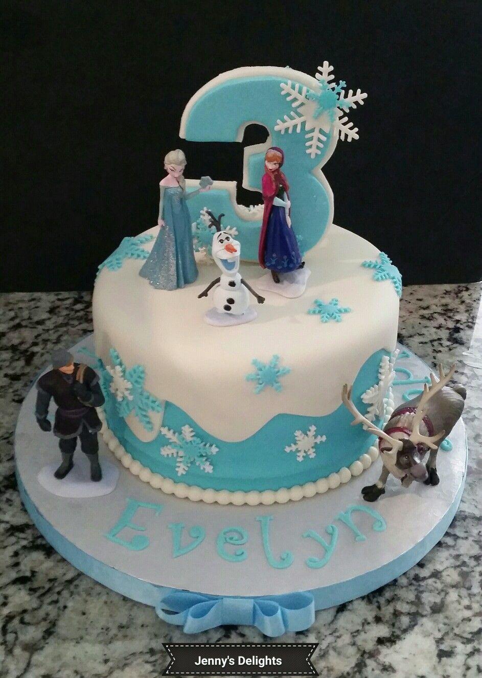 25713ecabc Frozen Themed Fondant Cake with Elsa