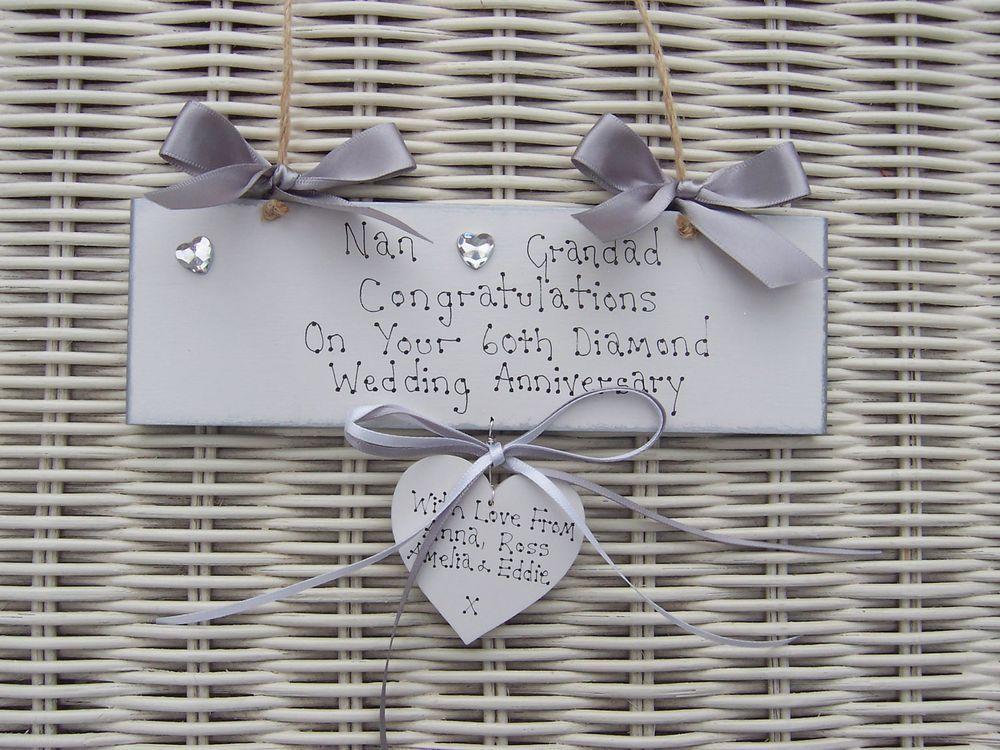 Diamond Wedding Gift Ideas: Details About Personalised 60th Diamond Wedding