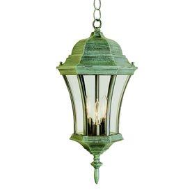 Portfolio 19 5 In H Verde Green Outdoor Pendant Light 19 5 H X 9 Outdoor Hanging Lanterns Outdoor Pendant Lighting Trans Globe Lighting