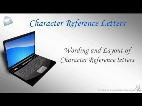 How To Write Character Reference Letters  For Me