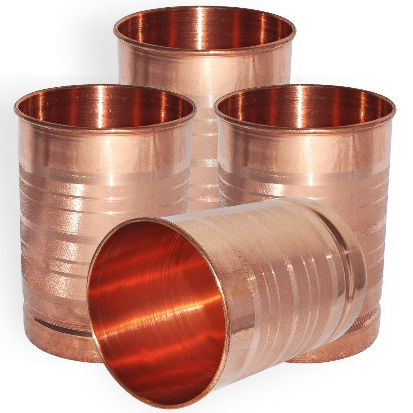 Buy Dakshcraft ® Small Copper Drinkware Tumbler, Set of 4