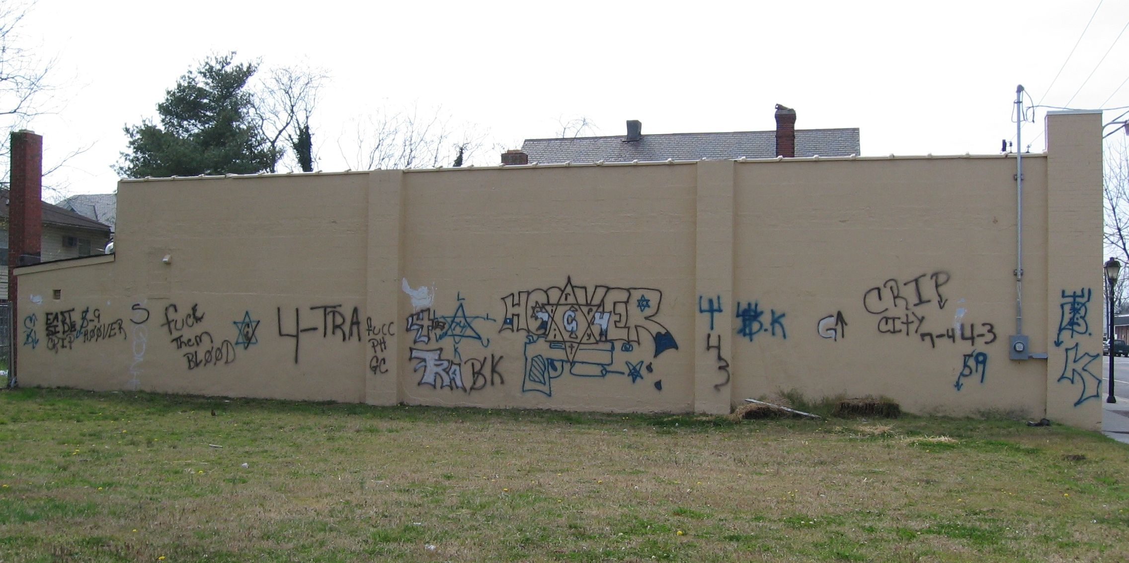 East Side Hoover Crip And Various Folk Nation Symbols 6 Point Star
