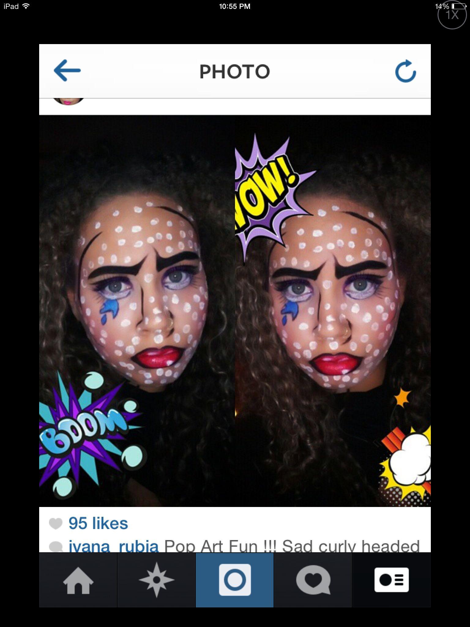 Makeup by Ivana_rubia pop art Halloween look
