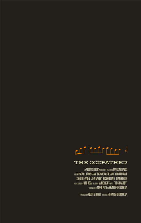 The Godafther 1972 Minimal Movie Poster By Jaredaucourant