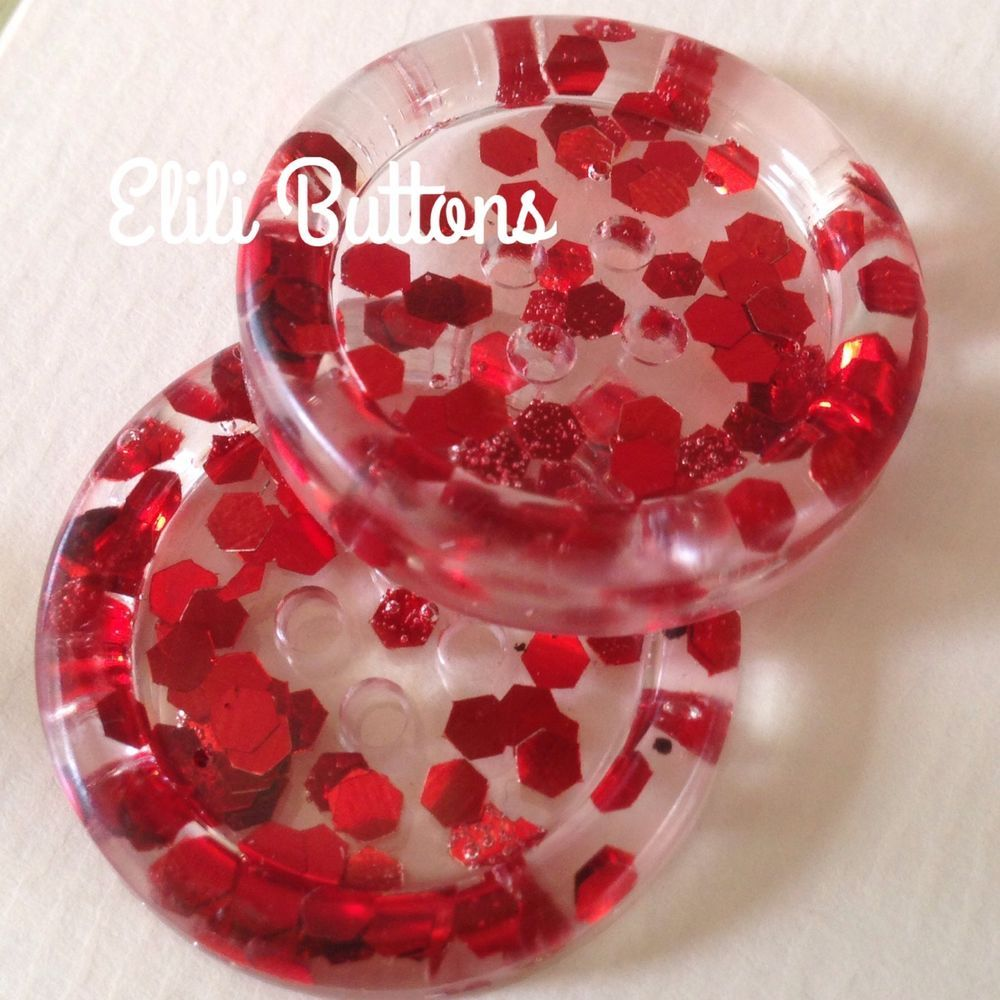 how to make clear resin button