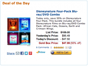 Amazon Deal of the Day: Disney Nature Four Pack 55% off Today