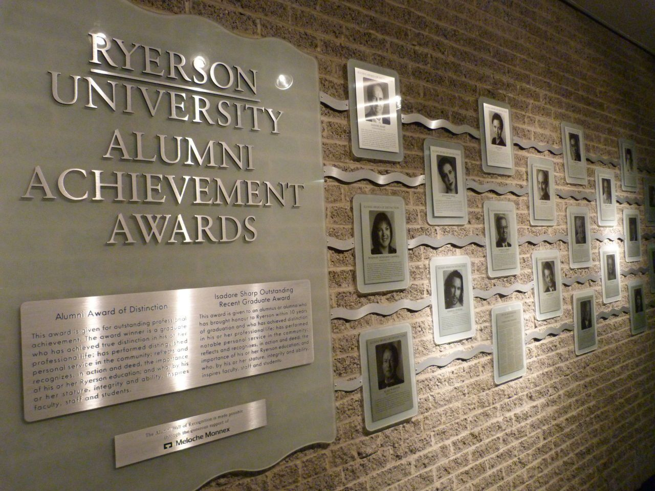 Ryerson Alumni Achievement Awards With Images Award Display