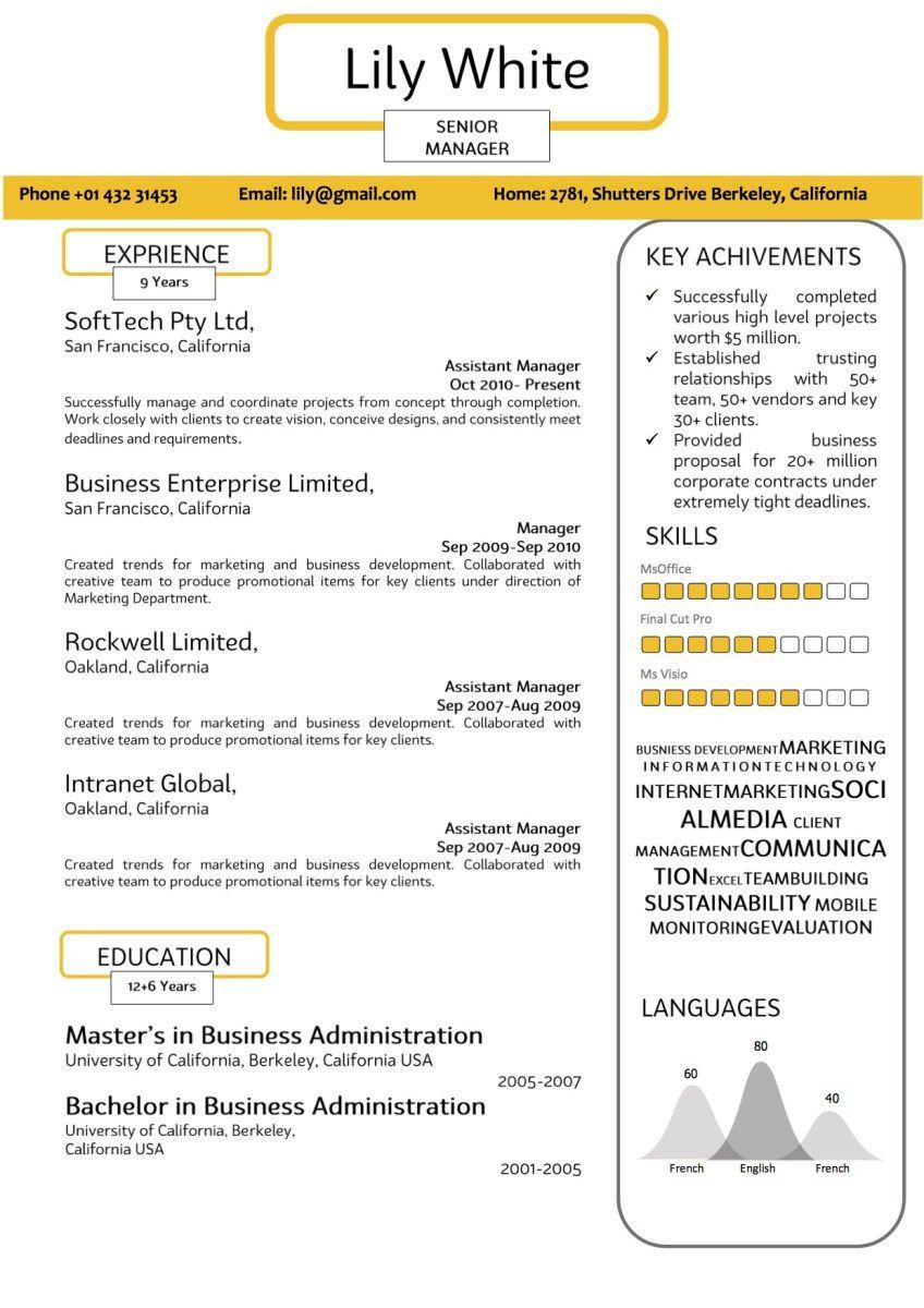 Modern YellowWhite Resume Resume, Modern, Resume services