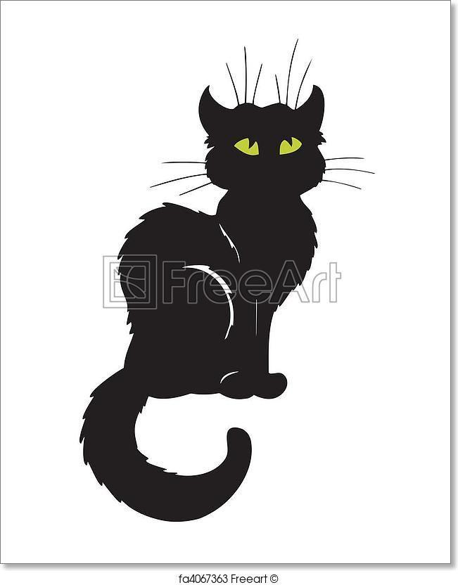 Free Art Print Of Dark Cat Silhouette Halloween Silhouettes
