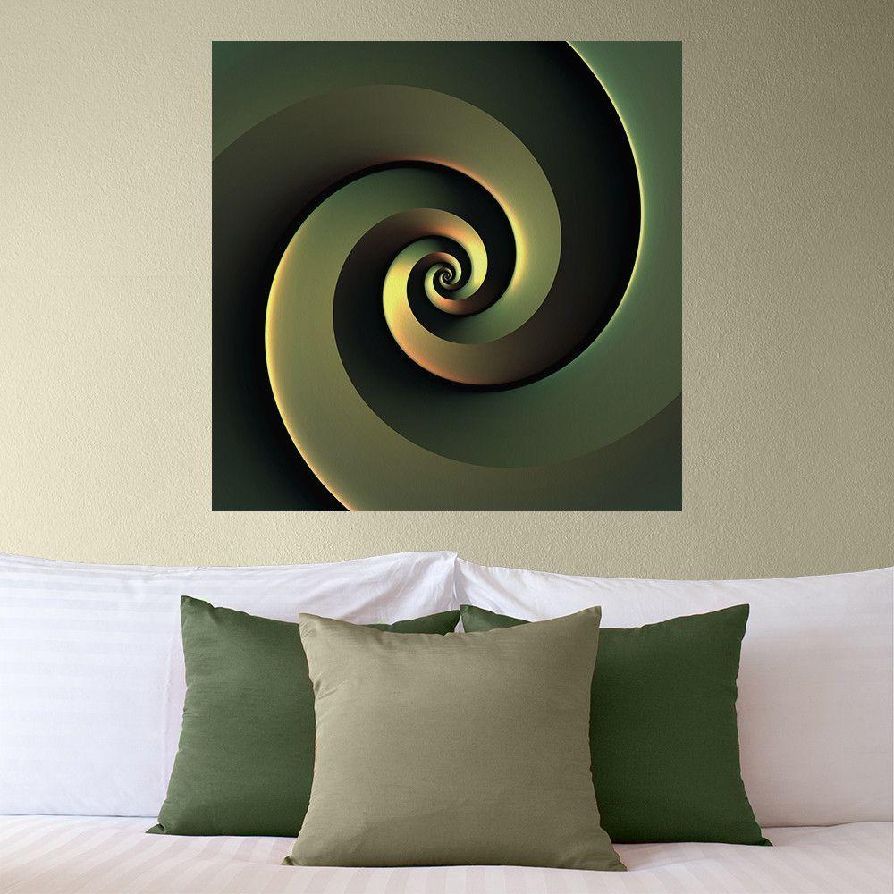 Chic Digital Art Wall Sticker Decal Dark Spiral By Lyle Hatch My Wonderful Walls Digital Wall Wall Decals
