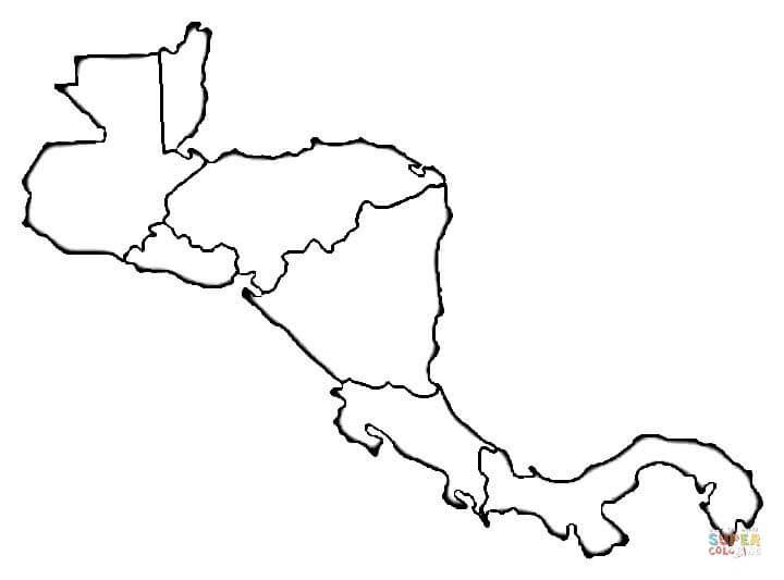 Mapa de Centroamérica | Super Coloring | CENTRO AMERICA | Pinterest ...