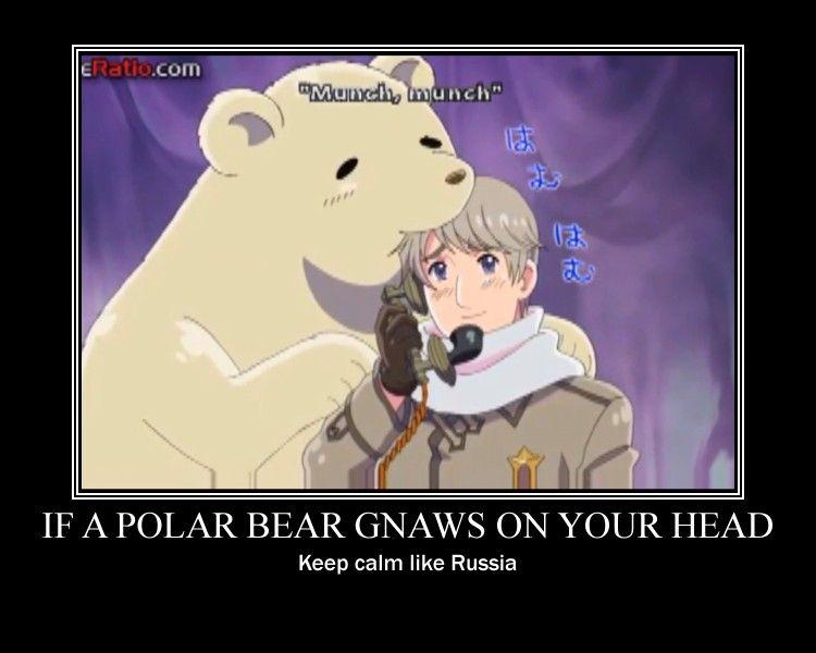 Polar bear and Russia APH by CookieKat303.deviantart.com on @deviantART