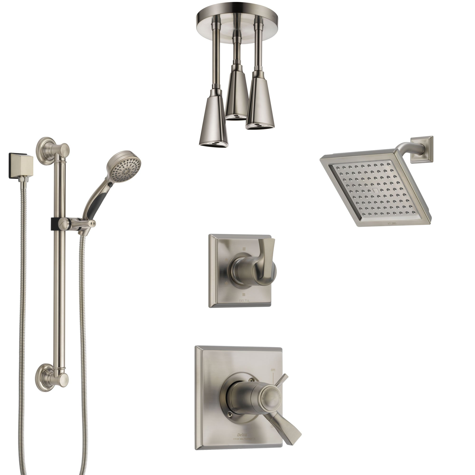 Delta Dryden Dual Thermostatic Control Stainless Steel Finish