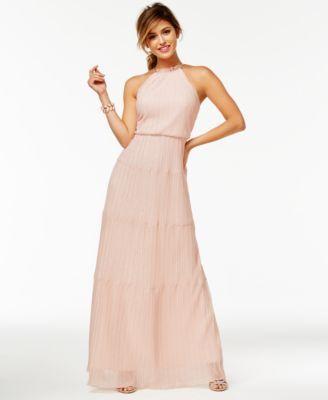 Speechless Juniors' Pleated A-Line Gown | macys.com