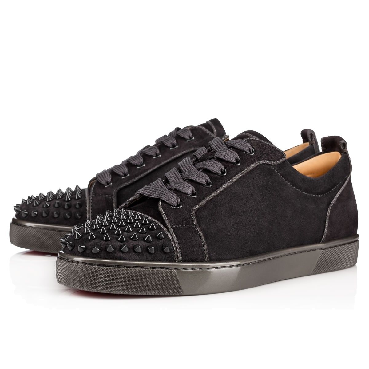 Louis Junior Lowtop Suede Trainers In Black Christian